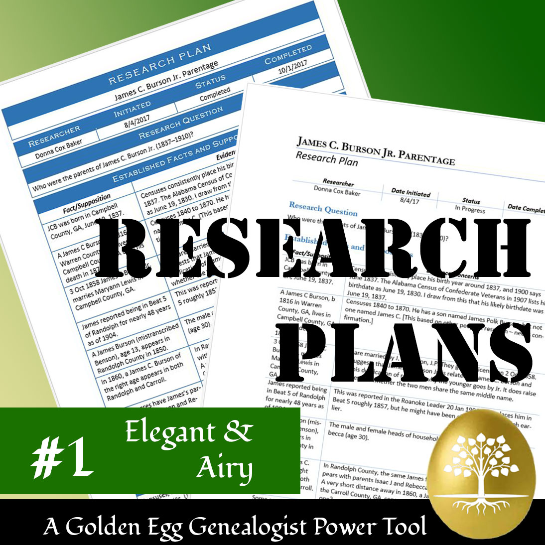 GEG Research Plan #1: Elegant and Airy (Download)
